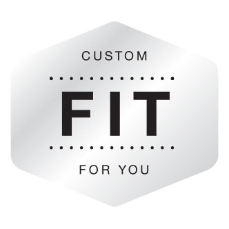 "Custom Fit Shield - text reads: ""custom fit for you"""